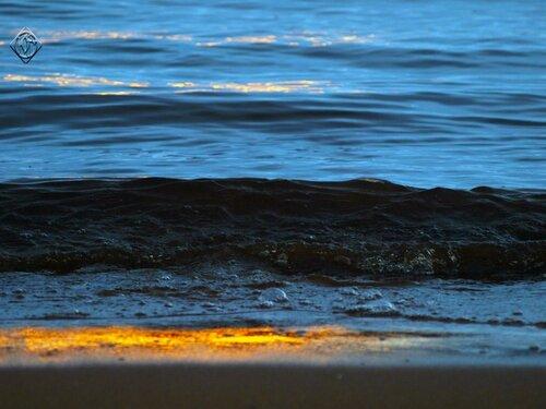 Зимняя вода залива