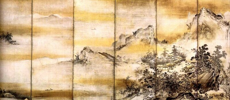 Японская «туманная» живопись суми э (упражнения)