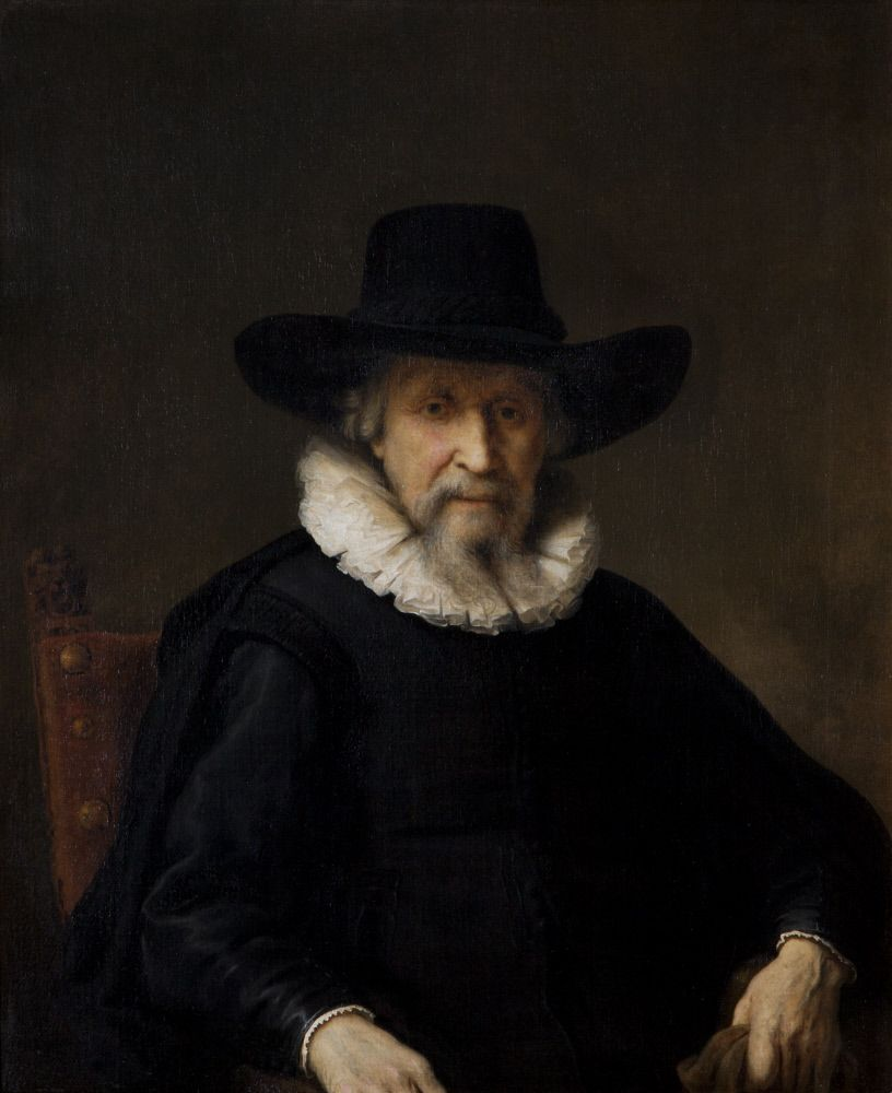 Head of an Old Man (possibly Ephraim Bonus, or Bueno [1599-1665])by Ferdinand Bol (Dordrecht 1616 ¿ Amsterdam 1680)
