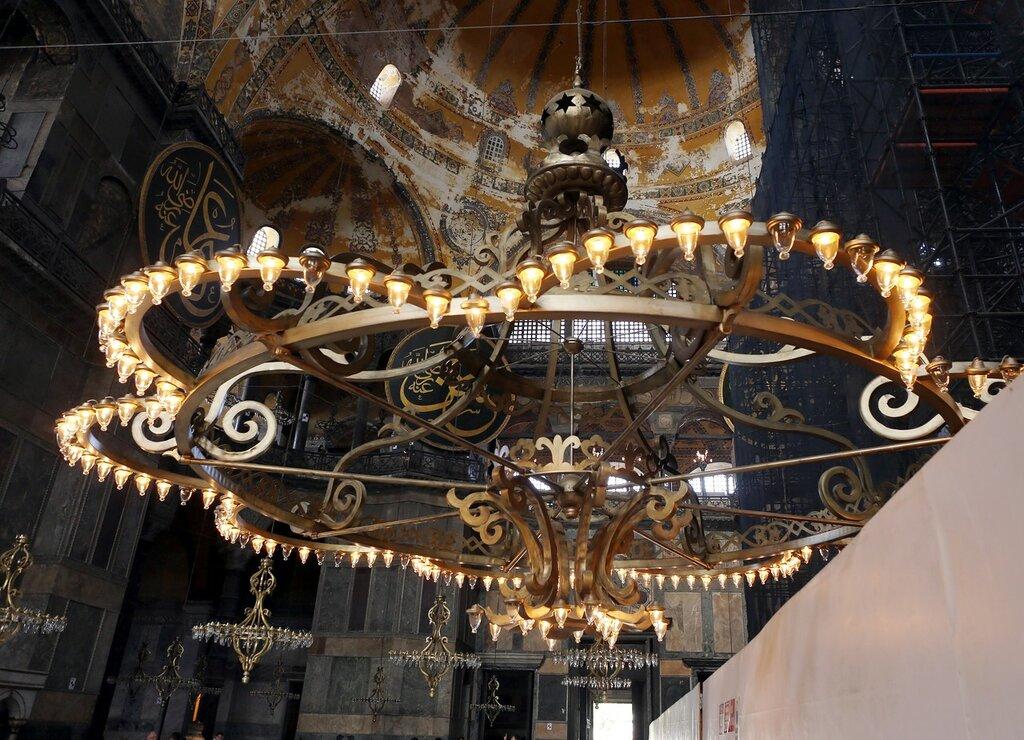 Istanbul. Hagia Sophia Cathedral. Main nave