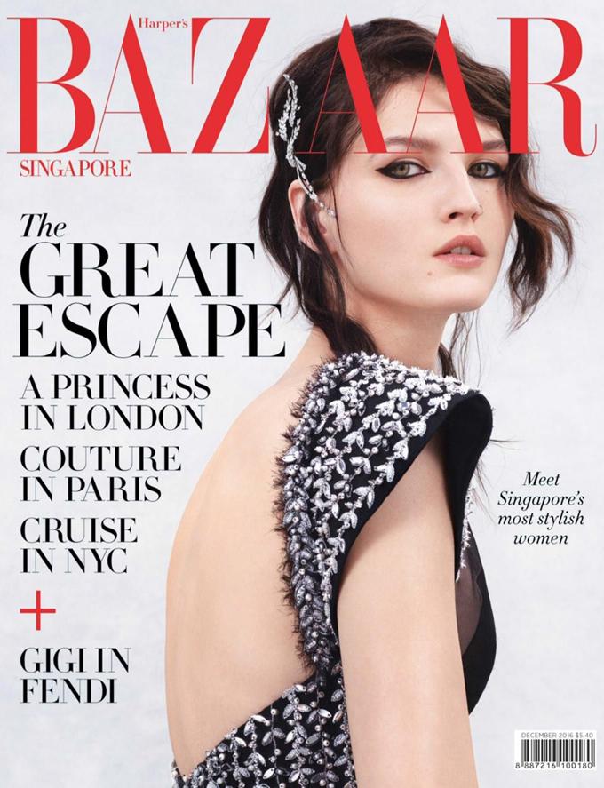 Кэтлин Аас для Harper's Bazaar Singapore