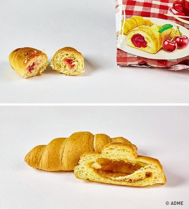 Различные кондитерские изделия сначинкой, такие как круассаны или булочки, наполняются начинкой лиш