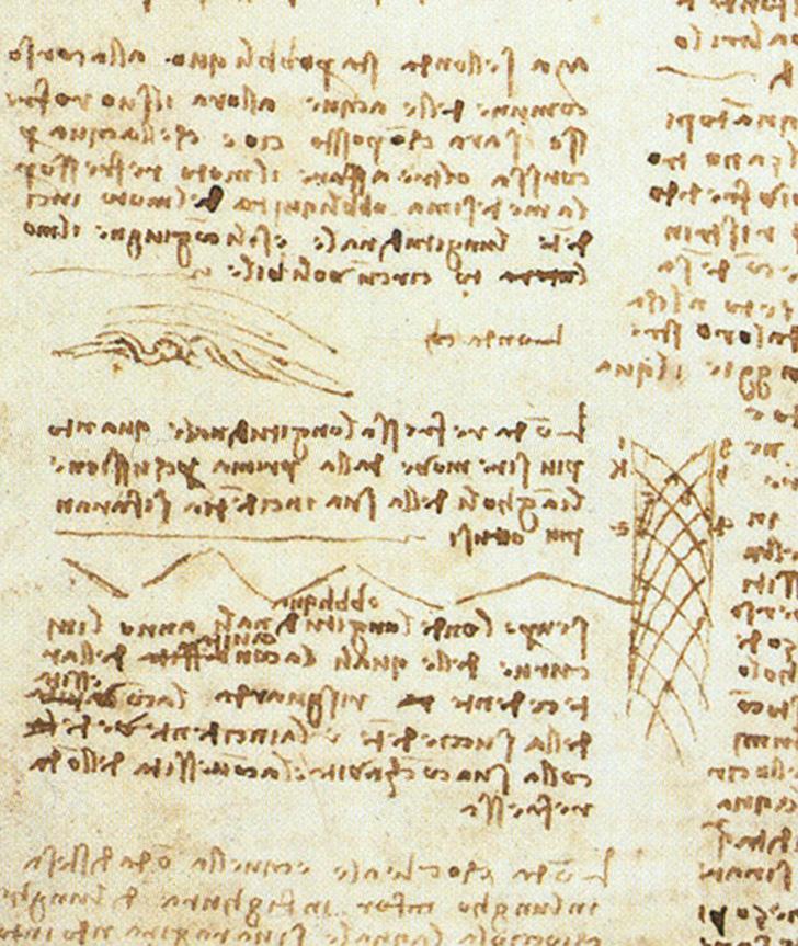Зеркальное письмо. Был ли знаменитый почерк Леонардо попыткой избежать плагиата или же да Винчи писа