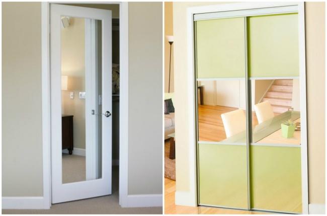 Зеркала вдверях способны визуально расширить пространство.
