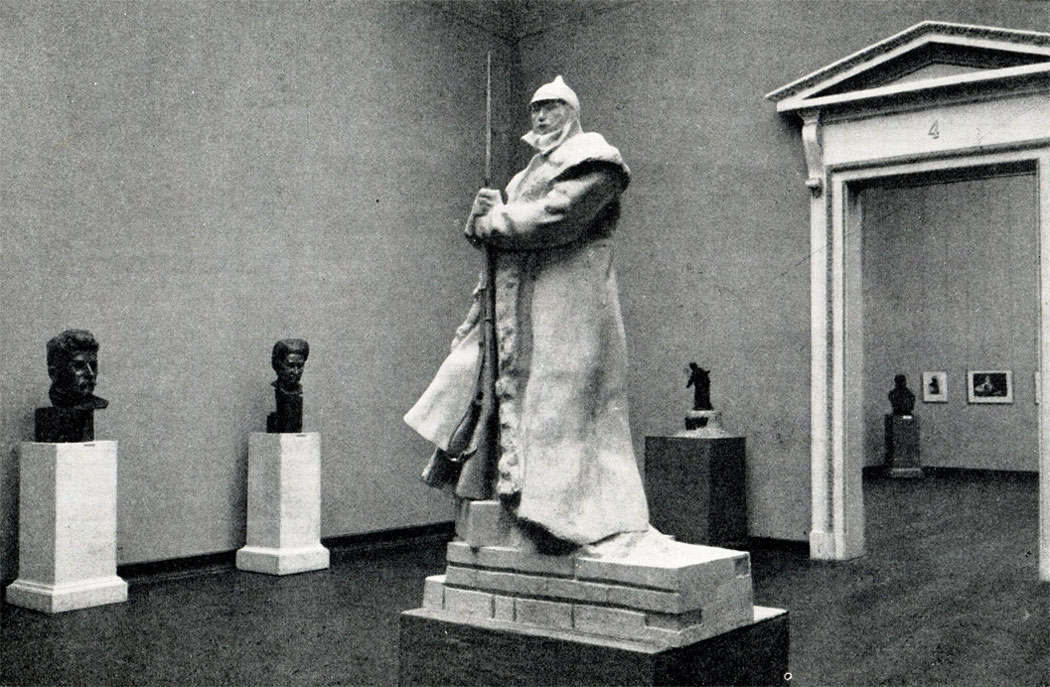 Зал выставки произведений Л. В. Шервуда в Русском музее в 1952 г.