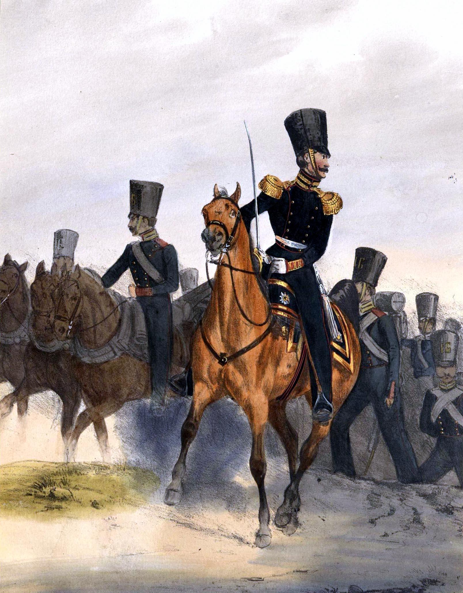034. Kaiserthum Russland Garde-Artillerie zu Fuß / Российская империя