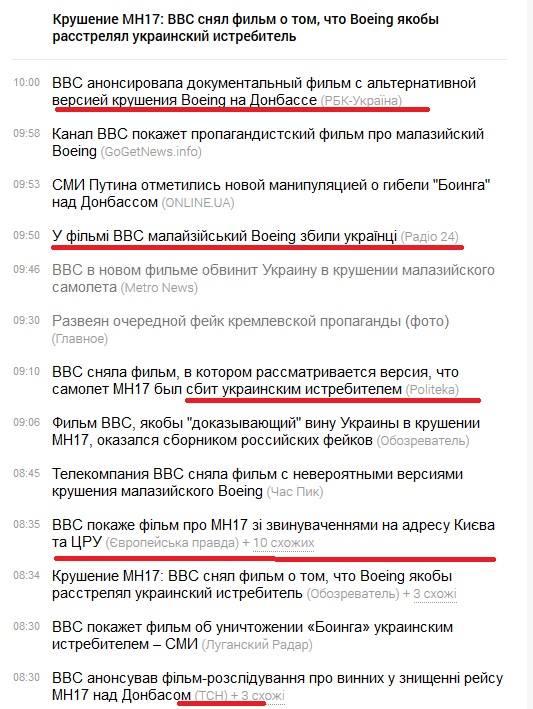 """BBC опровергает ложь российских СМИ по поводу фильма о сбитом """"Боинге"""": """"Есть убедительные доказательства, что самолет упал из-за удара ракеты земля-воздух"""" - Цензор.НЕТ 1303"""