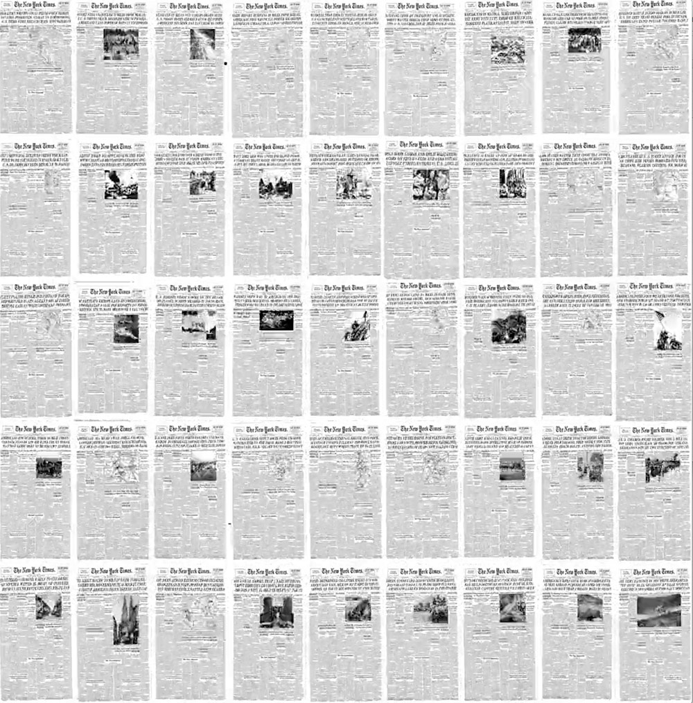 The Rise of the Image: Every NY Times Front Page Since 1852 in Under a Minute