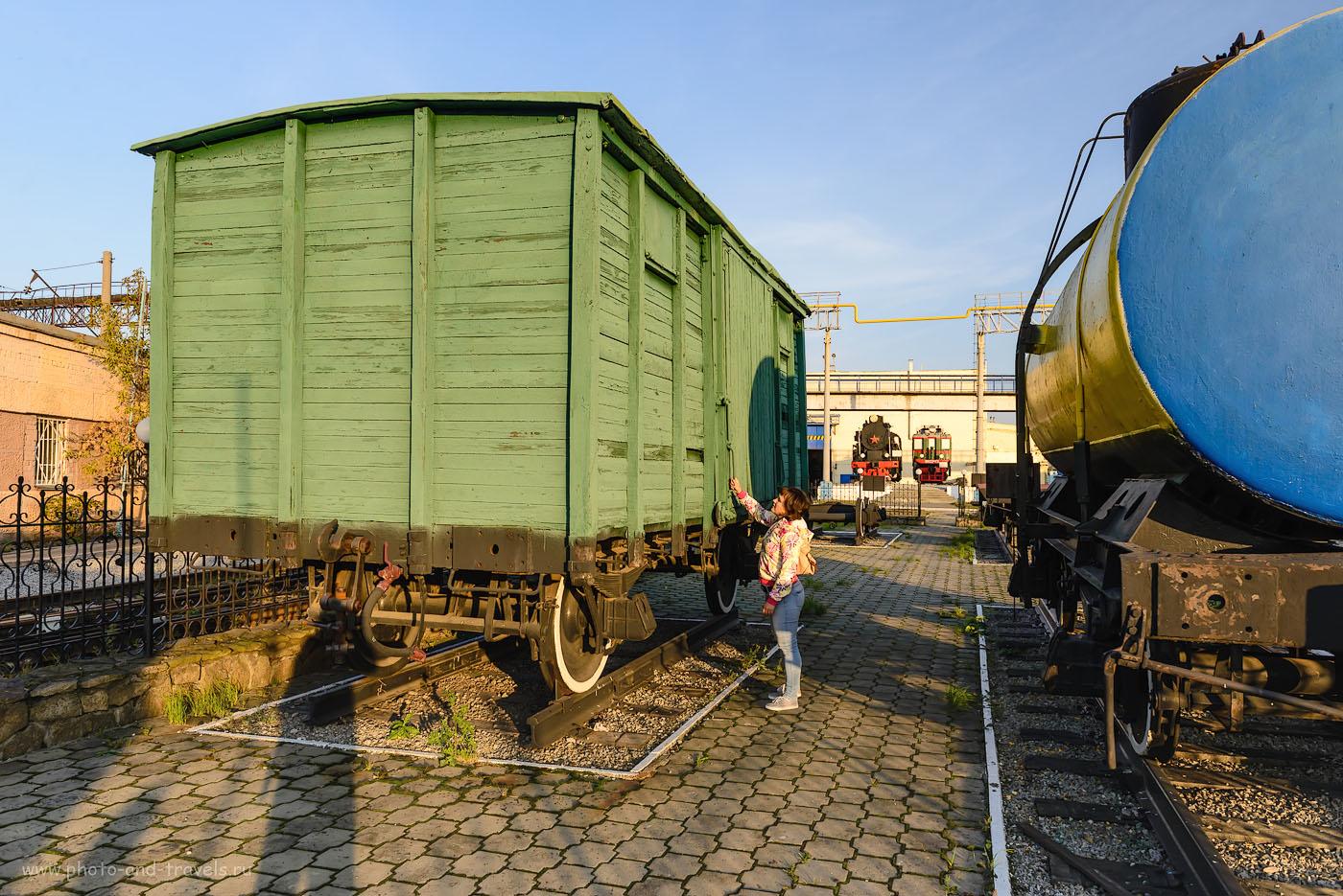 Фотография 9. Грузовые вагоны в железнодорожном музее. 1/160, -2.0, 8.0, 160, 24.