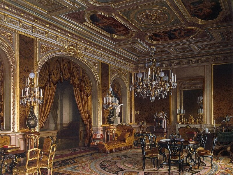 Луиджи Премацци, Особняк барона Штиглица А.Л., Парадный кабинет, 1870, Эрмитаж