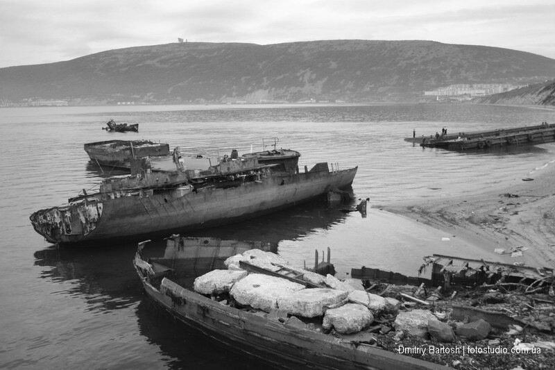 Кладбище кораблей, Нагаевская бухта, Магадан. Фотограф Дмитрий Бартош