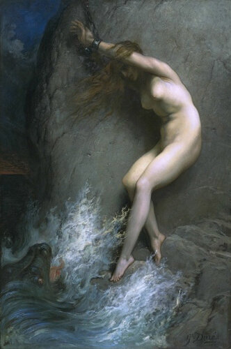 Гюстав Доре Андромеда, прикованная к скале