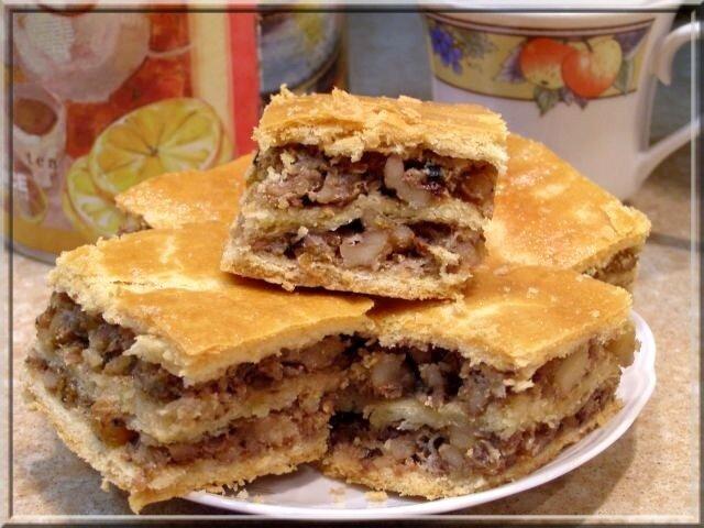 Пироги с изюмом орехами рецепт