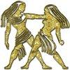 Близнецы - знак зодиака, рисунок, вариант № 1, Апарышев.