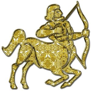 Стрелец - знак зодиака, рисунок, вариант № 1, Апарышев.