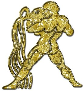 Водолей - знак зодиака, рисунок, вариант № 1, Апарышев.