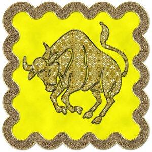 Телец - знак зодиака, рисунок, вариант № 3, печать, Апарышев.