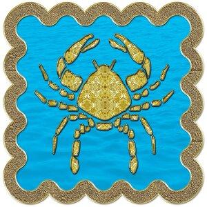 Рак - знак зодиака, рисунок, вариант № 3, печать, Апарышев.