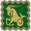 Козерог - знак зодиака, рисунок, вариант № 3, печать, Апарышев.