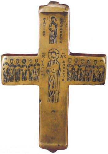 Крест преподобного Марка Гробокопателя Византия. 1090 год. Киево-Печерская лавра.