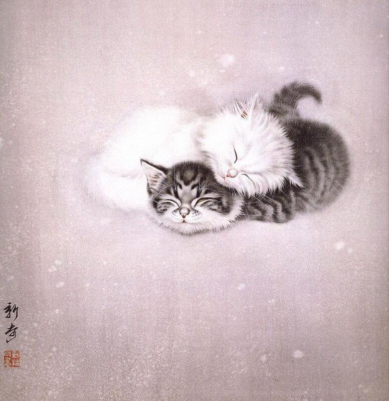 гохуа - коты в китайской живописи