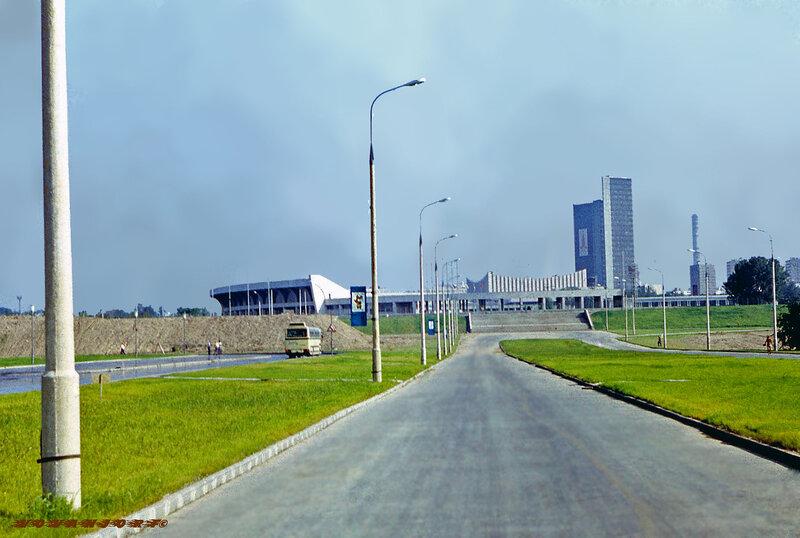Вид на Измайловский стадион 1980 года
