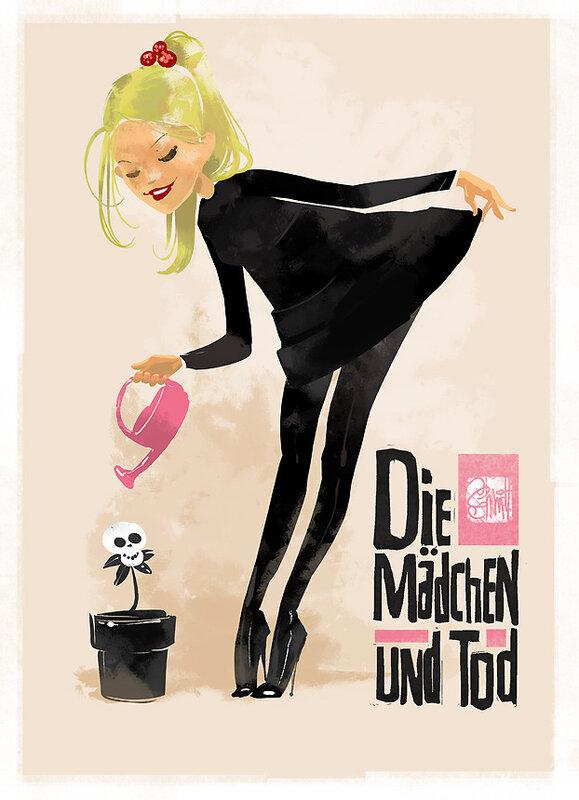 иллюстрации Оtto von Todd, девочка и смерть
