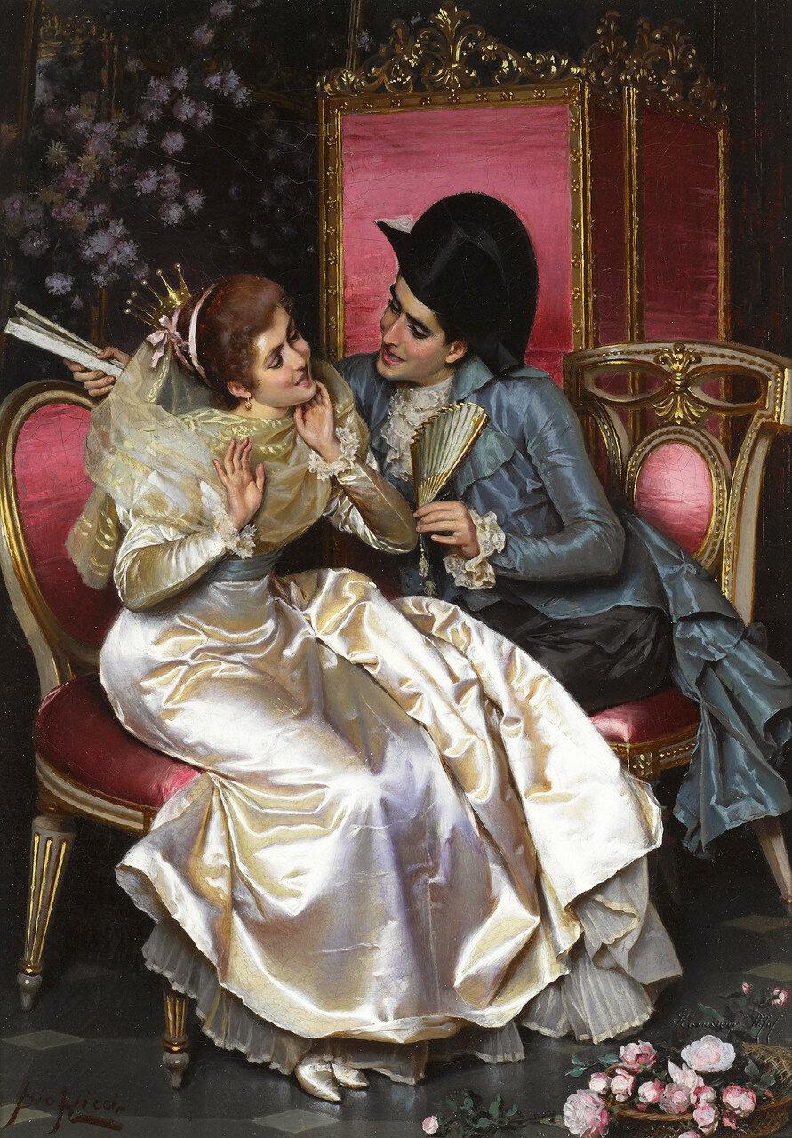 Pio Ricci (Italian, 1850-1919)A flirtatious moment.jpg