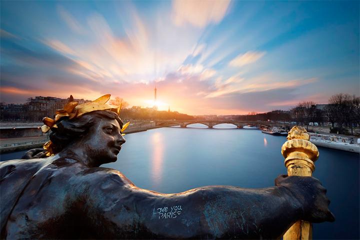 солнце в Париже, Франция