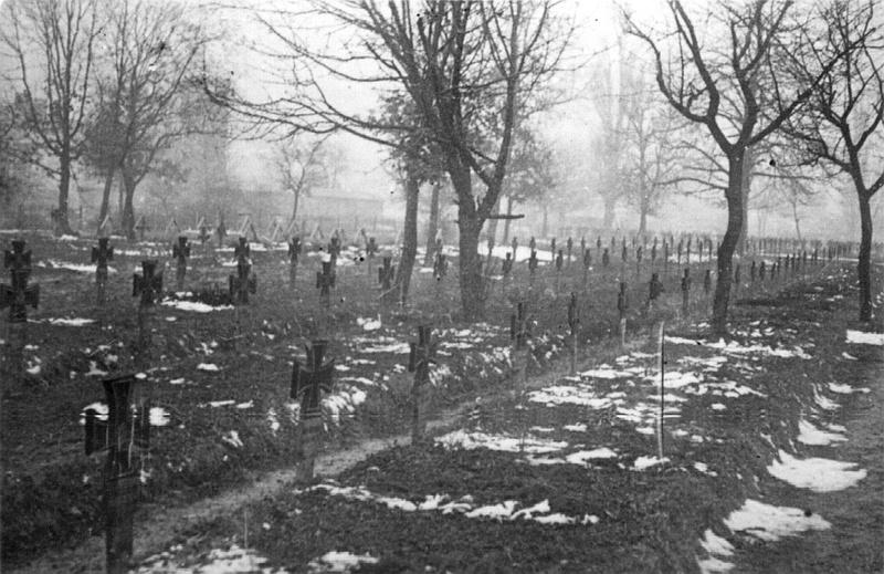 Немецкое кладбище в Виннице. Март 1944-го