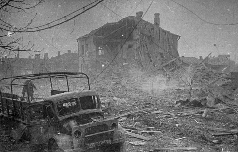 На винницкой улице после отступления немцев