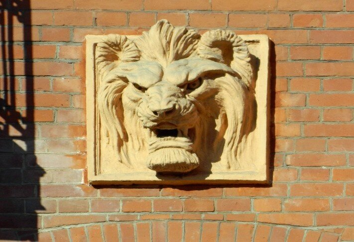 Львы на особняке Кавоса