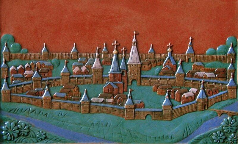 А.В. Климков. Город-крепость Тамбов. Фрагмент изразцового рельефа