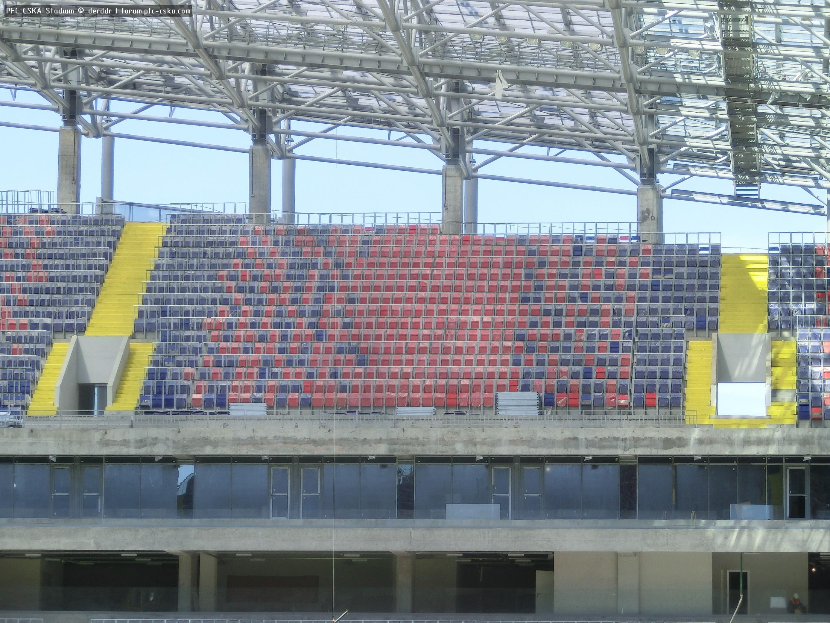 линзовидные скайбокс на стадионе цска фото снимок