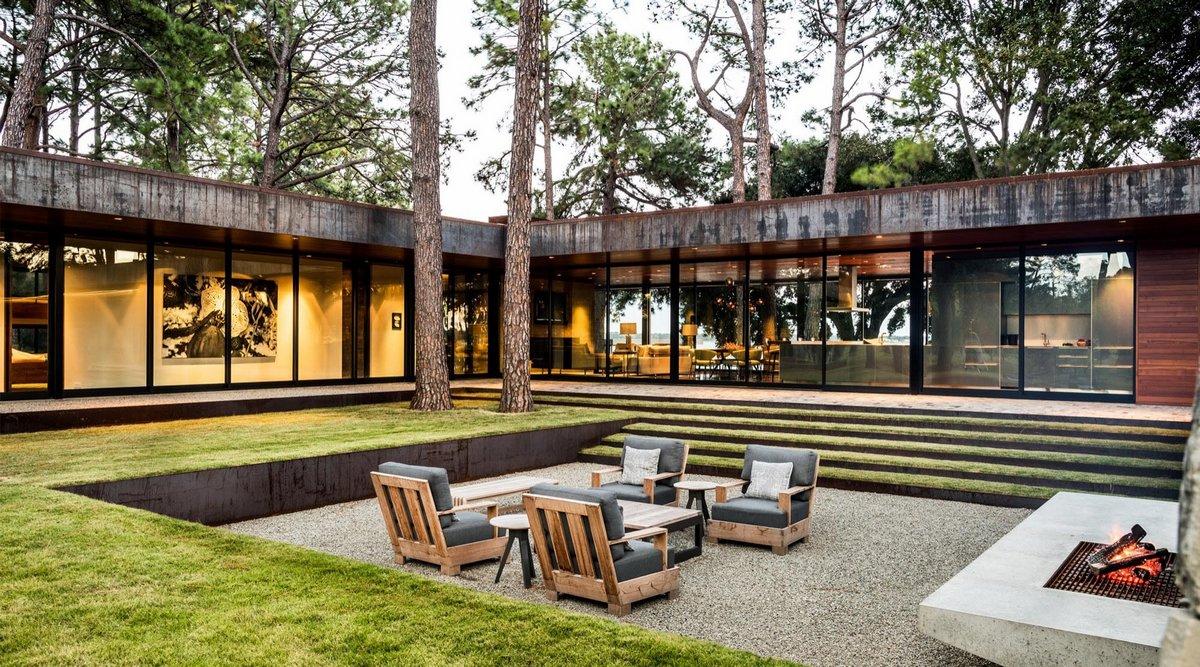 CCR1 Residence, Wernerfield, дом с лесу фото, дом на берегу водоема фото, частные американские дома фото, оформление двора в частном доме фото