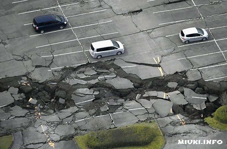 Землетрясения в Японии 14-16 апреля 2016
