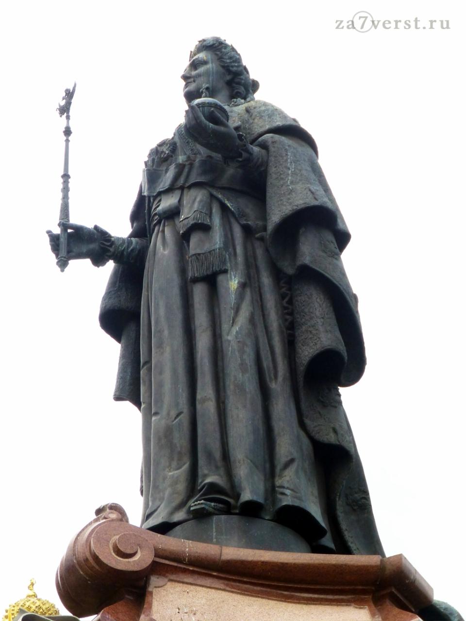 Краснодар, Памятник Екатерине Великой в Екатерининском сквере, статуя Екатерины