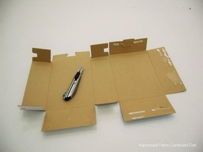 Как сделать детский почтовый ящик из картонной коробки
