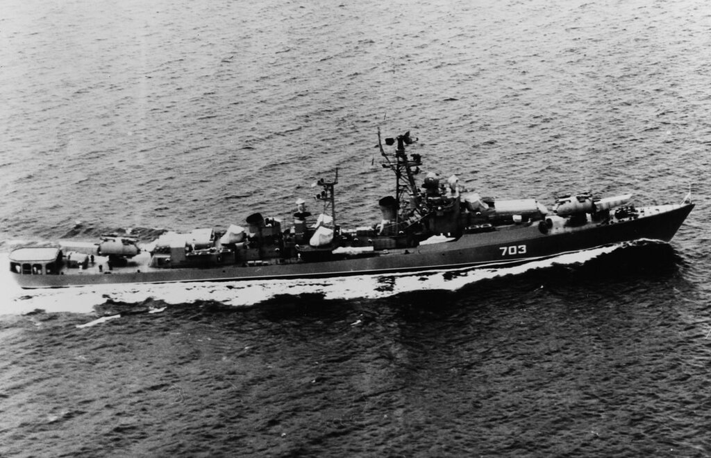 KRUPNY Class Soviet Guided Missile Destroyer. In 1962.
