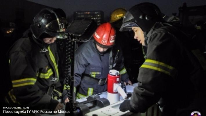 Пожар наскладе вМытищах локализован, общая площадь возгорания составила 500 кв. м