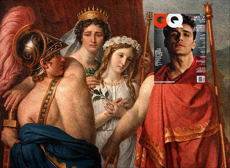 Mashups - When magazine covers meet the famous paintings