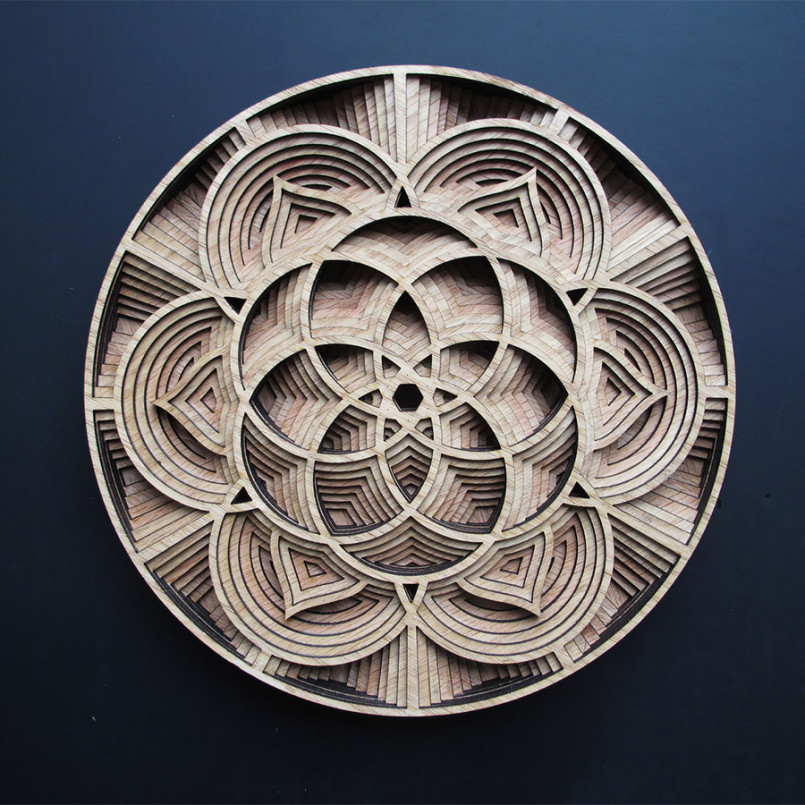 Laser-Cut Wooden Sculptures by Gabriel Schama