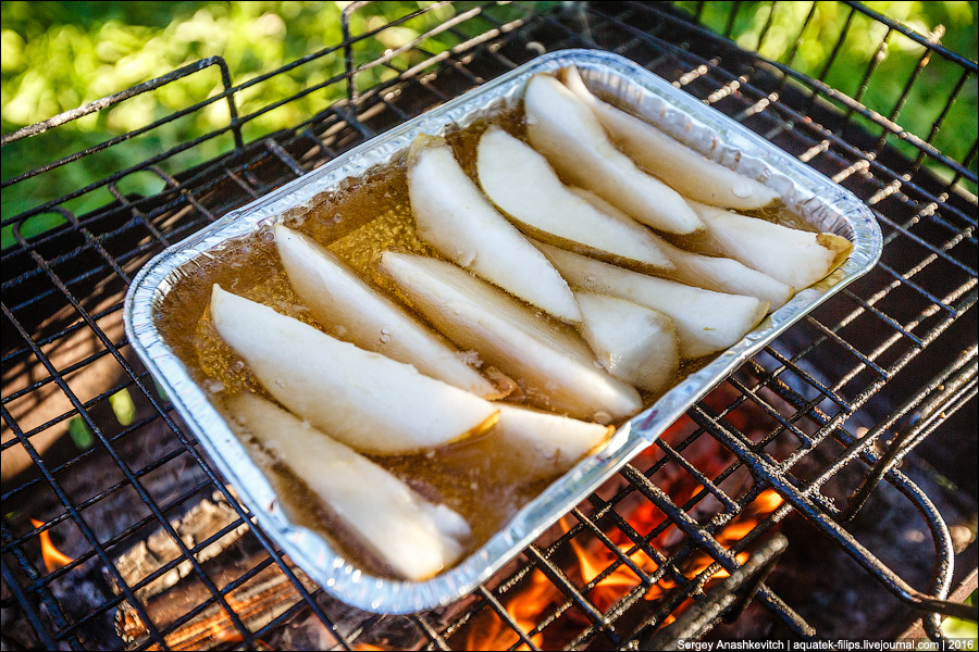 Десерт на мангале