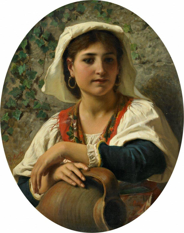 «Портрет молодой итальянки»<br /> Луиджи Бечи (1830-1919)
