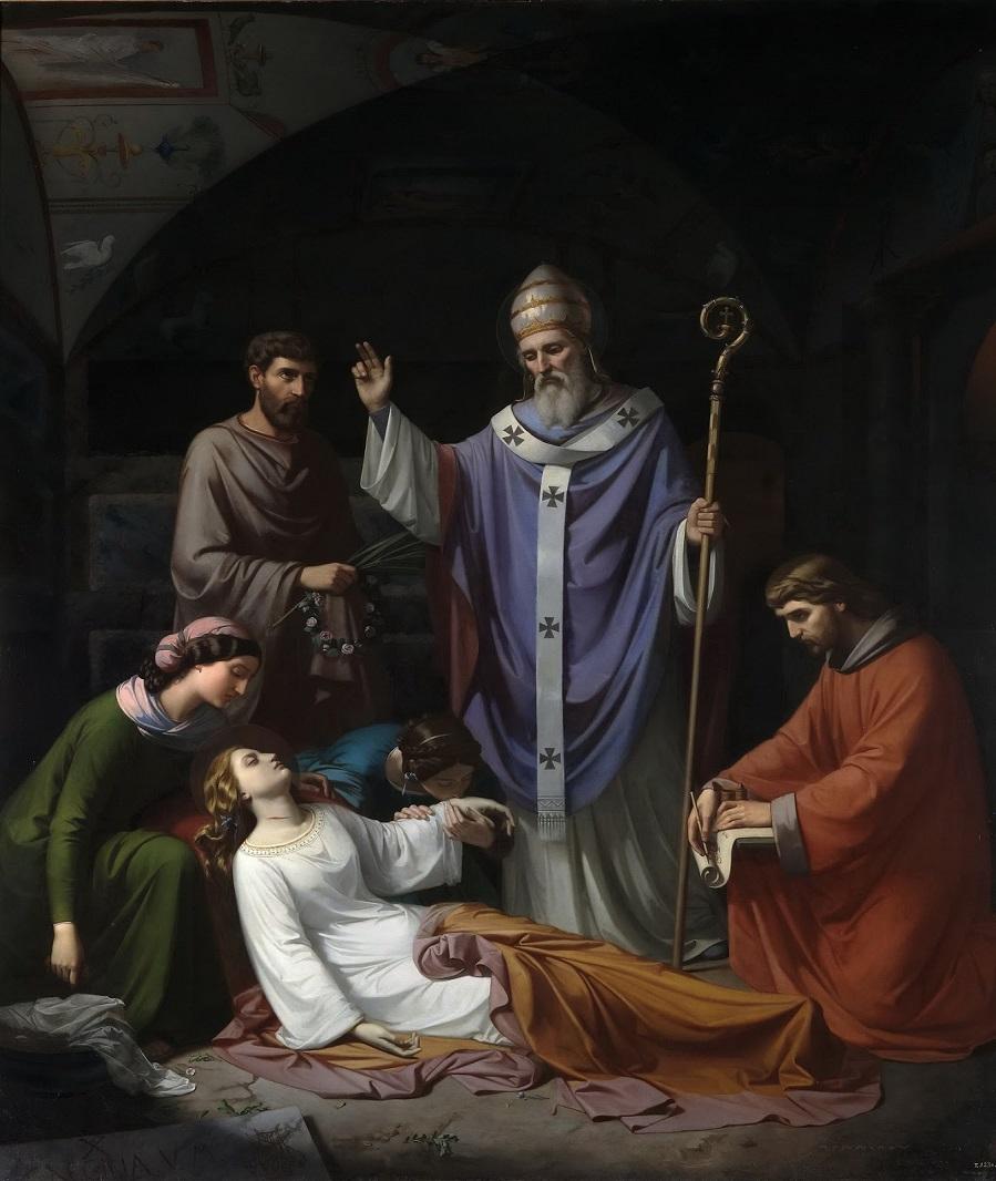 1852_Захоронение святой Цецилии в катакомбах Рима_02,6 x 253,5_х.,м._Мадрид, музей Прадо.jpeg