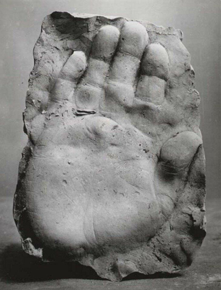 1943. Отпечаток правой руки Пабло Пикассо