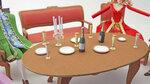 бокалы и свечи на стол