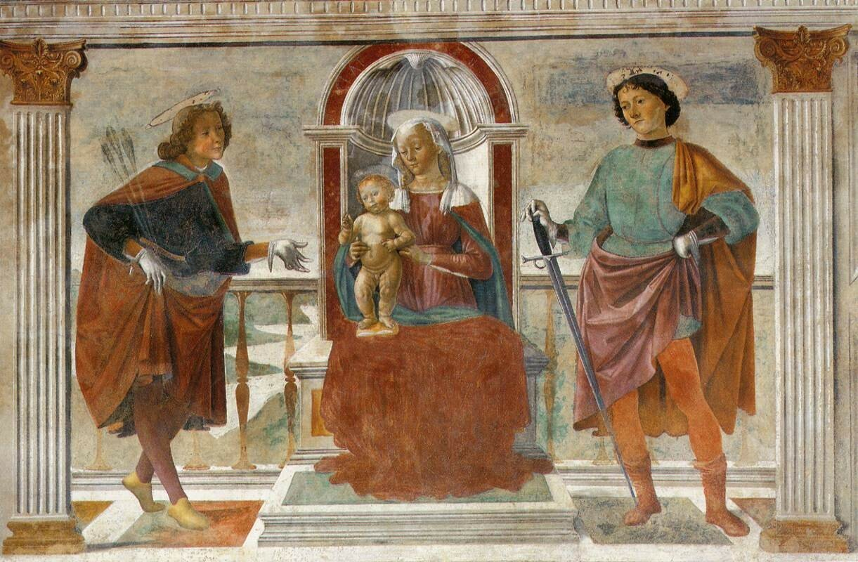 Domenico_ghirlandaio,_madonna_e_santi,_brozziок. 1473.jpg