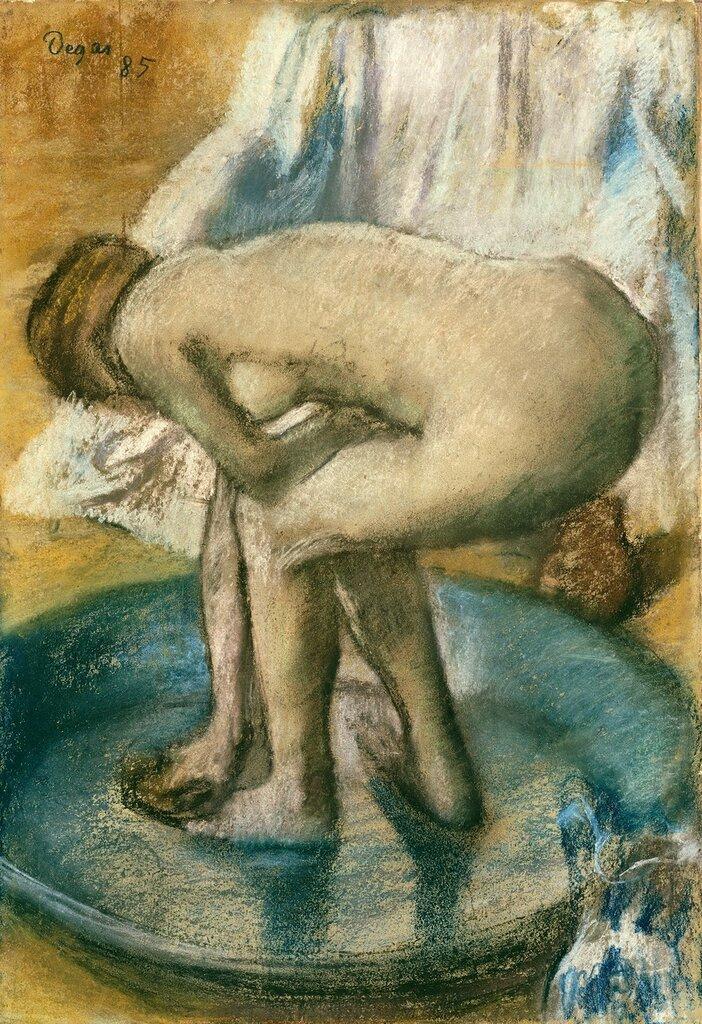 492_Женщина, купающаяся в тазу (1885) (81.3 х 56.2) (Нью-Йорк, Метрополитен).jpg