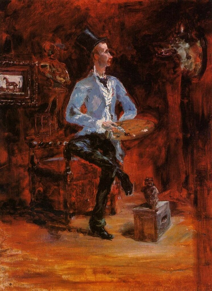Princeteau in His Studio - 1881-82 - PC - Painting - oil on canvas.jpeg
